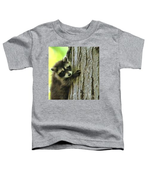 Baby Raccoon In A Tree Toddler T-Shirt by Dan Sproul