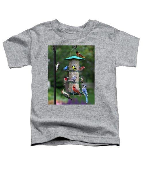 Backyard Bird Feeder Toddler T-Shirt