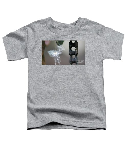 Balance, Feather And Iron Chain In The Wind Toddler T-Shirt