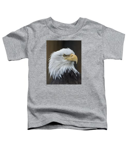 Bald Eagle Portrait Toddler T-Shirt by Gary Lengyel