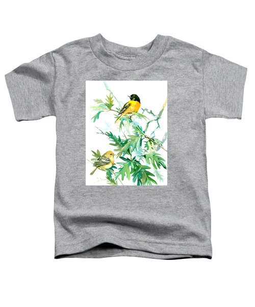 Baltimore Orioles And Oak Tree Toddler T-Shirt by Suren Nersisyan
