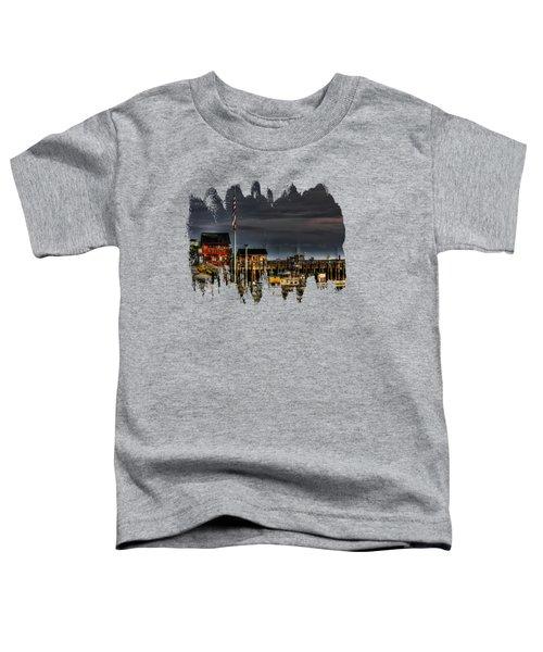 Bandon Boat Basin At Dawn Toddler T-Shirt