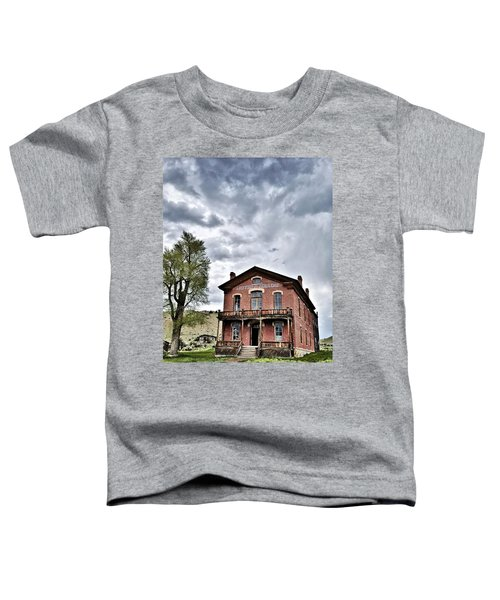 Toddler T-Shirt featuring the digital art Bannack Mt. 7 by Susan Kinney