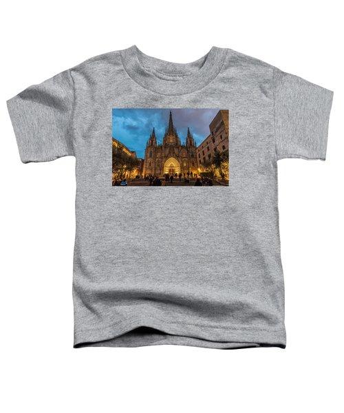Barcelona Cathedral At Dusk Toddler T-Shirt