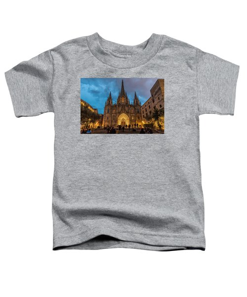 Barcelona Cathedral At Dusk Toddler T-Shirt