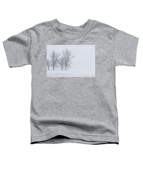 Bare Trees In A Snow Storm Toddler T-Shirt