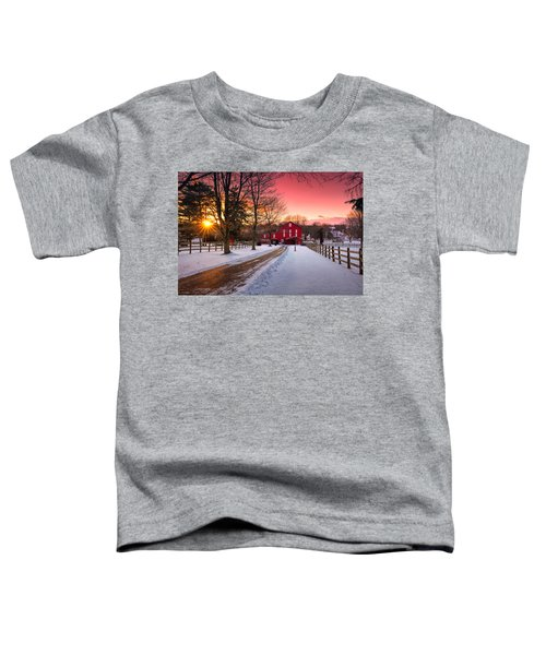 Barn At Sunset  Toddler T-Shirt
