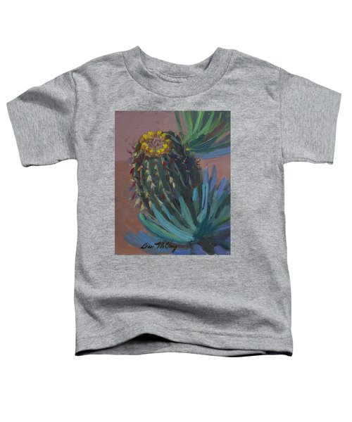 Barrel Cactus In Bloom - Boyce Thompson Arboretum Toddler T-Shirt