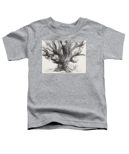 Toddler T-Shirt featuring the drawing Barringtonia Tree by Judith Kunzle