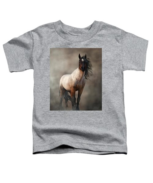Bay Roan Horse Art Toddler T-Shirt