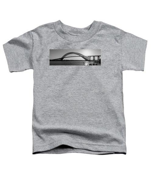 Bayonne Bridge Panorama Bw Toddler T-Shirt