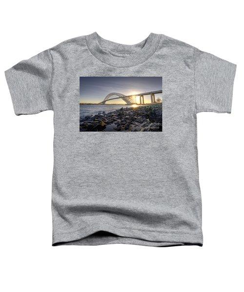 Bayonne Bridge Sunset Toddler T-Shirt