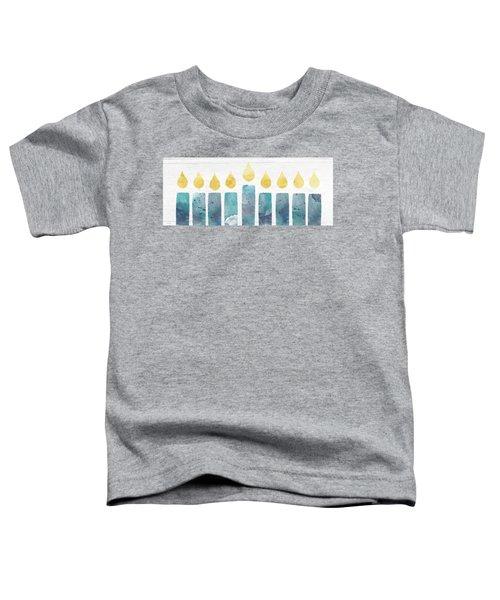 Beach Colors Menorah- Art By Linda Woods Toddler T-Shirt