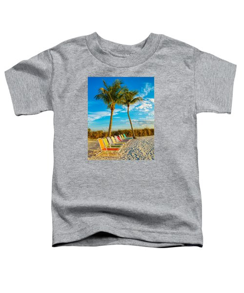 Beach Lounges Under Palms Toddler T-Shirt