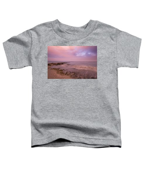 Beach Sunset In Connecticut Landscape Toddler T-Shirt
