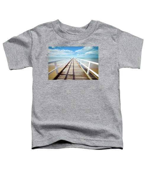 Toddler T-Shirt featuring the photograph Beach Walk by MGL Meiklejohn Graphics Licensing