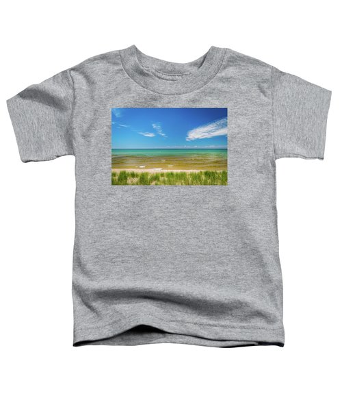 Beach With Blue Skies And Cloud Toddler T-Shirt