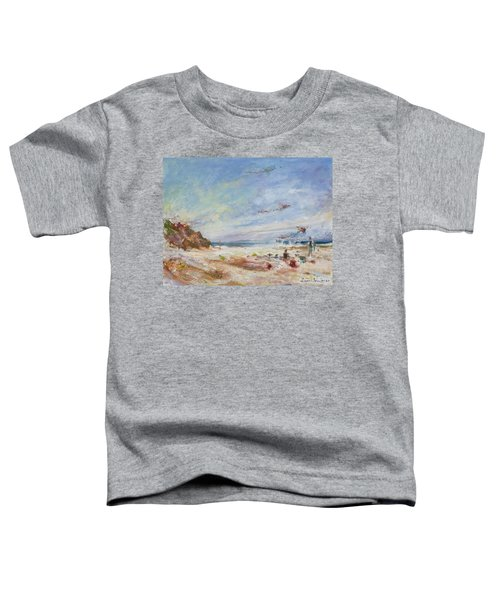 Beachy Day - Impressionist Painting - Original Contemporary Toddler T-Shirt
