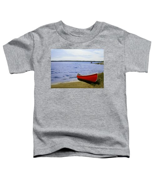 Beaultiful Red Canoe Toddler T-Shirt