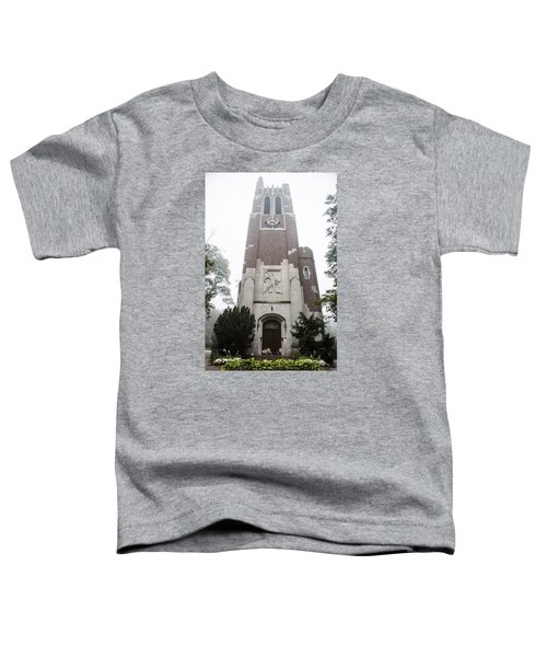 Beaumont Tower In The Fog  Toddler T-Shirt