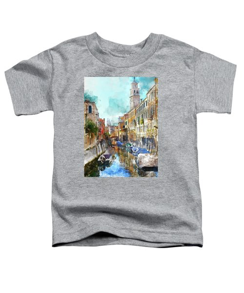 Beautiful Boats In Venice, Italy Toddler T-Shirt