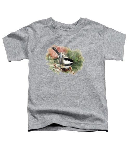 Beautiful Chickadee - Watercolor Art Toddler T-Shirt