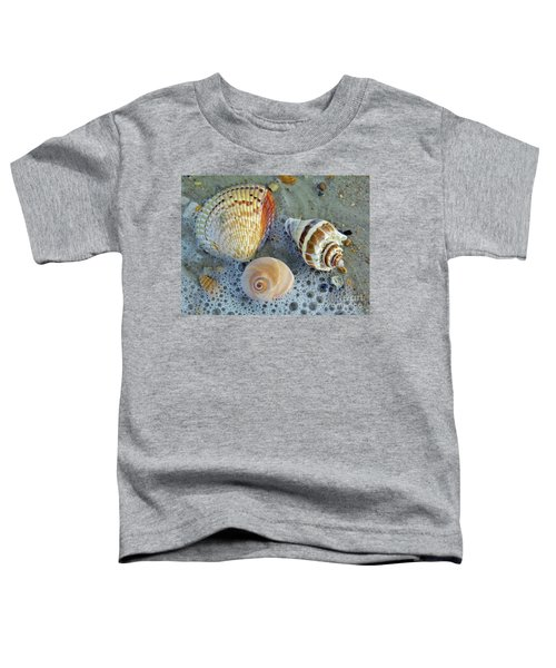Beautiful Shells In The Surf Toddler T-Shirt