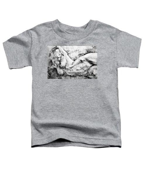 Beautiful Young Girl Pencil Art Drawing Toddler T-Shirt