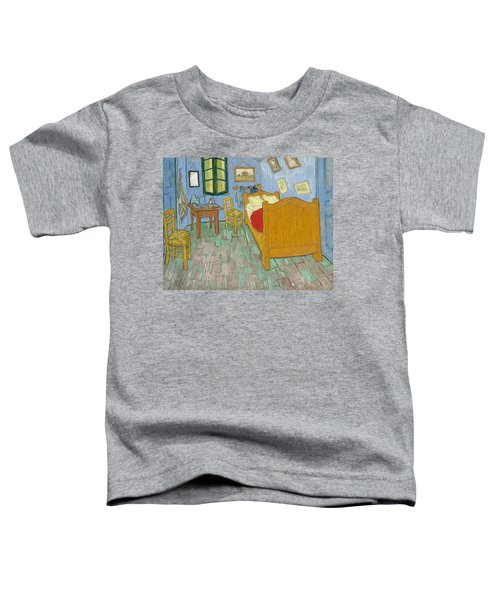 Toddler T-Shirt featuring the painting Bedroom At Arles by Van Gogh
