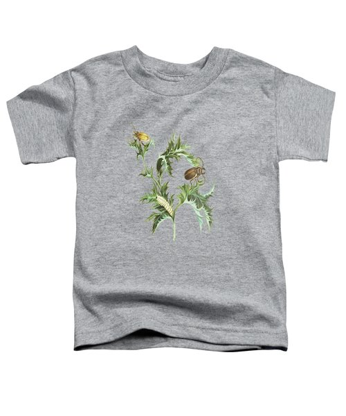 Beetles With Larvae On A Thistle By Cornelis Markee 1763 Toddler T-Shirt