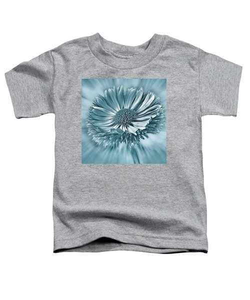 Bellis In Cyan  #flower #flowers Toddler T-Shirt