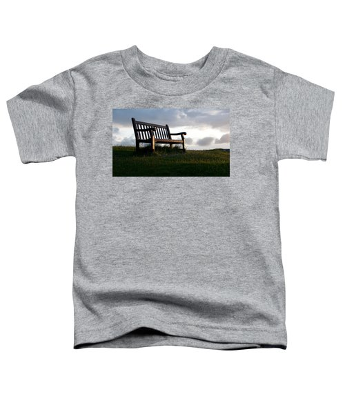 Bench At Sunset Toddler T-Shirt