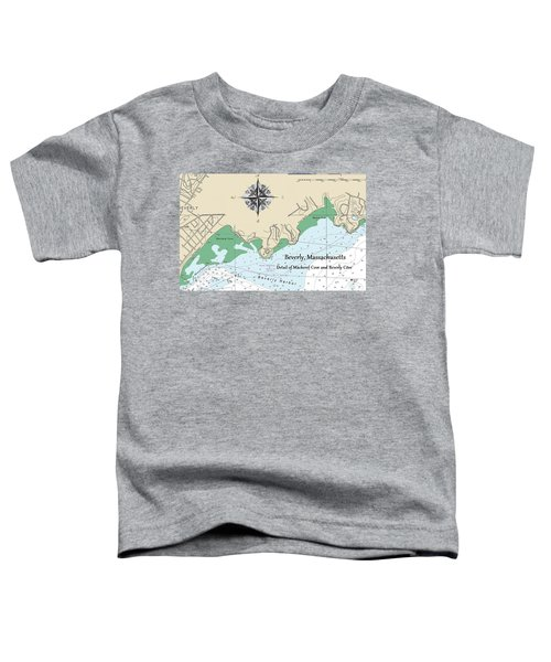 Beverly Cove Nautical Map Toddler T-Shirt