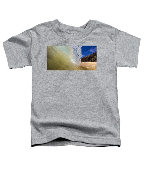 Big Beach Maui Shore Break Wave Wide  Toddler T-Shirt