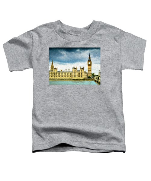 Big Ben And Houses Of Parliament With Thames River Toddler T-Shirt