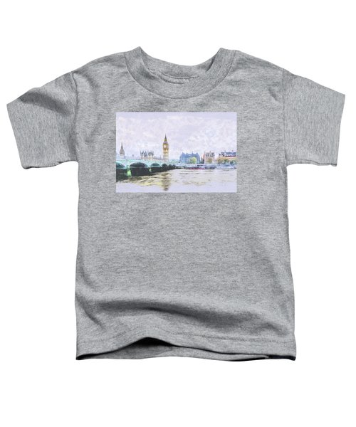 Big Ben And Westminster Bridge London England Toddler T-Shirt