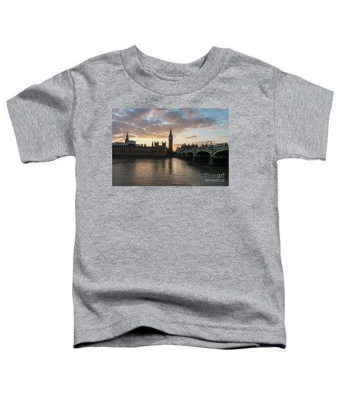 Big Ben London Sunset Toddler T-Shirt by Mike Reid
