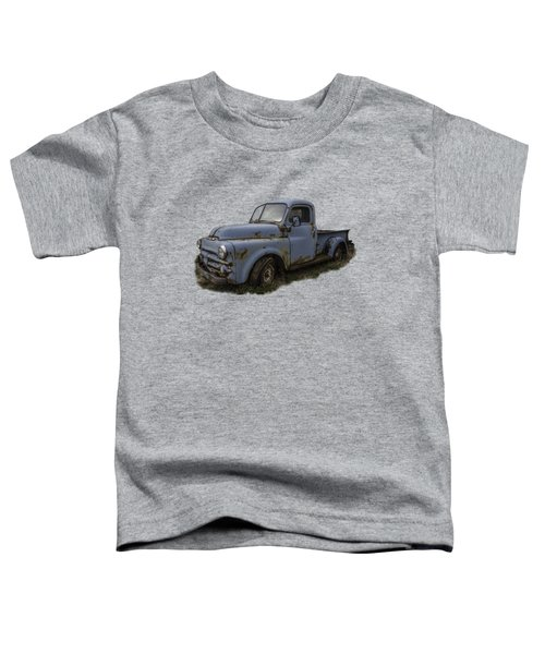 Toddler T-Shirt featuring the photograph Big Blue Dodge Alone by Debra and Dave Vanderlaan