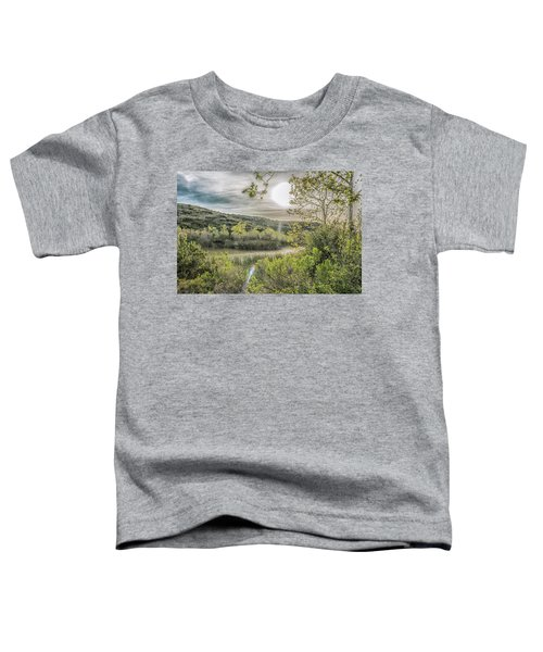Toddler T-Shirt featuring the photograph Big Sun by Alison Frank