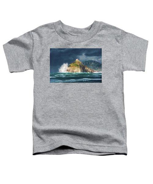 Big Waves Over San Juan De Gaztelugatxe Toddler T-Shirt