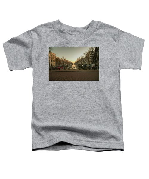 Bikes On The Canal Bridge Toddler T-Shirt