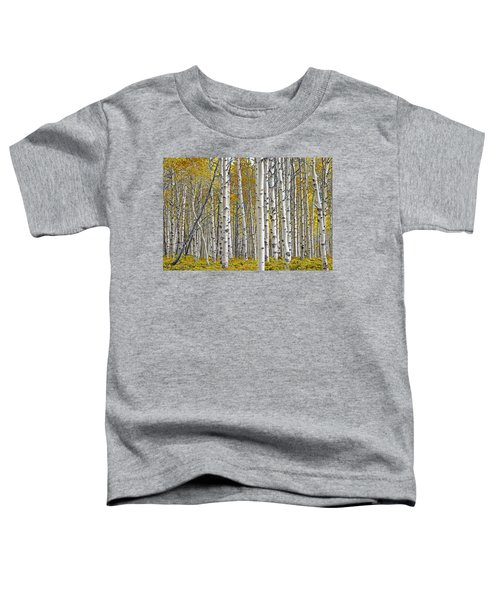 Birch Tree Grove With A Touch Of Yellow Color Toddler T-Shirt