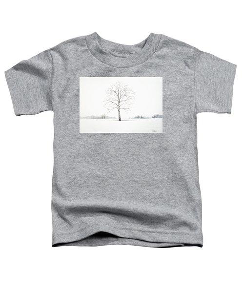 Birch Tree Upon The Winter Plain Toddler T-Shirt