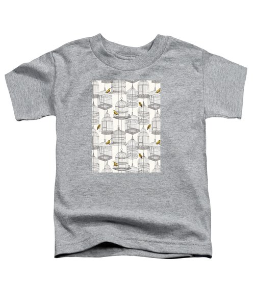 Birdcages Toddler T-Shirt by Stephanie Davies