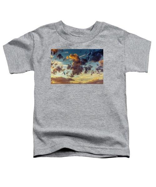 Birds In Flight At Sunset Toddler T-Shirt