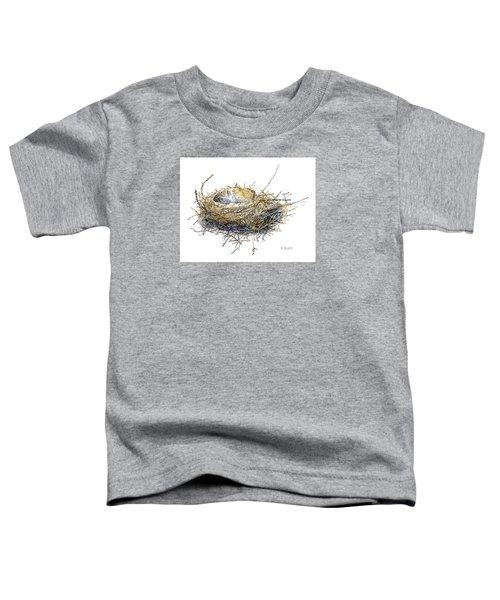 Bird's Nest Watercolor Painting Toddler T-Shirt