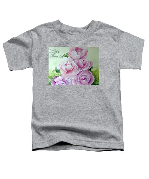 Birthday Peonies Toddler T-Shirt