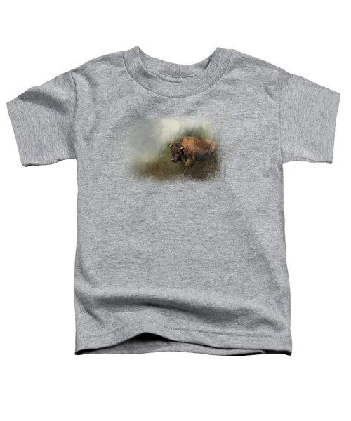 Bison After The Mud Bath Toddler T-Shirt