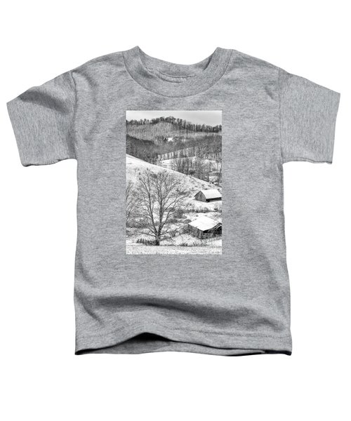 Black And White In Winter Toddler T-Shirt