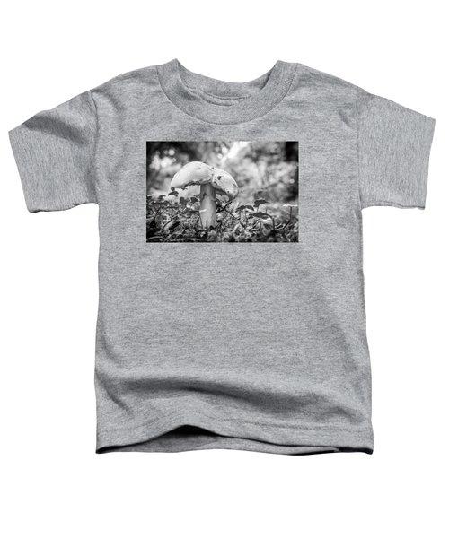 Black And White Mushroom. Toddler T-Shirt